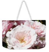 Summer Rose Garden Pink Flowers Baslee Troutman Weekender Tote Bag