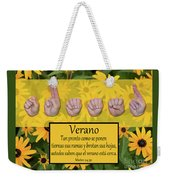 Summer Spanish Weekender Tote Bag
