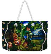 Summer Stained Glass Panel Weekender Tote Bag