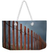 Summer Storm Beach Fence Weekender Tote Bag