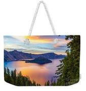 Sunset At Crater Lake, Oregon Weekender Tote Bag
