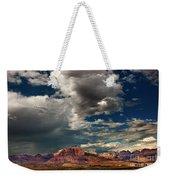 Summer Thunderstorm Clouds Form Over West Temple Zion National Park Utah Weekender Tote Bag