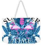 Summer Time Tropical  Weekender Tote Bag
