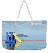 Summer Vacation Scene With Water Slide  Weekender Tote Bag