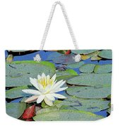 Summer Water Lily Weekender Tote Bag