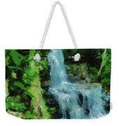 Summer Waterfall In West Milton Weekender Tote Bag