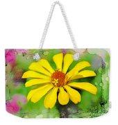 Summer Zinnia  Weekender Tote Bag