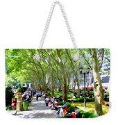 Summertime In Bryant Park Weekender Tote Bag