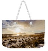 Sun Above Lake Argentino Weekender Tote Bag