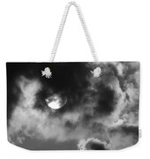 Sun And Clouds - Grayscale Weekender Tote Bag