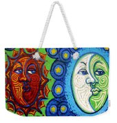 Sun And Moon Weekender Tote Bag