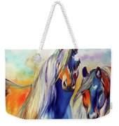 Sun And Shadow Equine Abstract Weekender Tote Bag