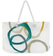Sun And Sky- Abstract Art Weekender Tote Bag by Linda Woods