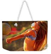 Sun Beach Girl Weekender Tote Bag