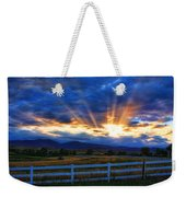 Sun Beams In The Sky At Sunset Weekender Tote Bag by James BO  Insogna