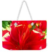 Sun Dappled Lily Weekender Tote Bag