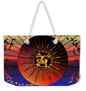 Sun Face Stylized Weekender Tote Bag