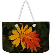 Sun Flower And Leaf Weekender Tote Bag