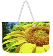 Sun Flower Art Sunlit Sunflower Giclee Prints Baslee Troutman Weekender Tote Bag