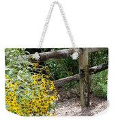 Sun Flower Fence Weekender Tote Bag