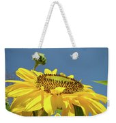 Sun Flowers Summer Sunny Day 8 Blue Skies Giclee Art Prints Baslee Troutman Weekender Tote Bag