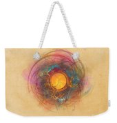 Sun Fractal Abstract Art Weekender Tote Bag