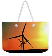 Sun Glare Upon Alberta Windfarm Weekender Tote Bag