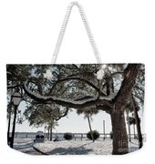 Sun Gleaming Through The Snow Weekender Tote Bag
