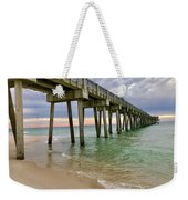 Sun Going Down At The Pier Weekender Tote Bag