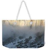 Sun Going Down On American Falls Weekender Tote Bag