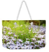 Sun-kissed Meadows With White Star Flowers Weekender Tote Bag