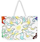 Sun Moon And Earth Weekender Tote Bag