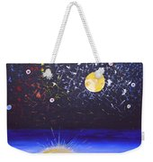 Sun Moon And Stars Weekender Tote Bag by Donna Blossom