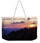 Sun Over Cedar Weekender Tote Bag