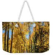 Sun Peaking Through The Aspens  Weekender Tote Bag