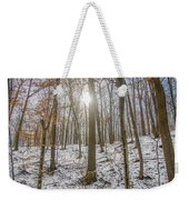 Sun Peaking Through The Trees - Fairmount Park Weekender Tote Bag