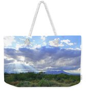 Sun Rays And Desert Landscape Weekender Tote Bag