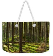 Sun Rays In Forest Weekender Tote Bag