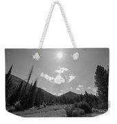 Sun Rays In Yellowstone Bw Weekender Tote Bag