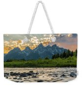Sun Rays Over The Grand Tetons Weekender Tote Bag