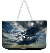 Sun Rays Through Clouds Form A Spot Weekender Tote Bag