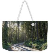 Sun Rays Through The Forest Weekender Tote Bag