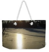 Sun Reflecting Off River Ice Weekender Tote Bag