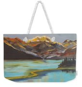 Sun Ricing On Rockies Weekender Tote Bag