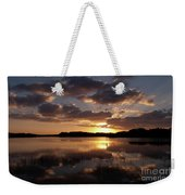 Sun Rise At West Lake In The Everglades Weekender Tote Bag