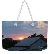 Sun Set On Barn  Weekender Tote Bag