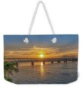 Sun Set Shoals Weekender Tote Bag
