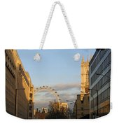 Sun Sets On London Weekender Tote Bag