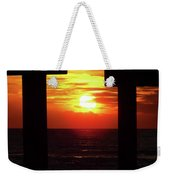 Sun Setting At The Pier Weekender Tote Bag