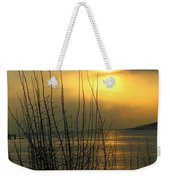 Sun Setting From Eastern Point Weekender Tote Bag